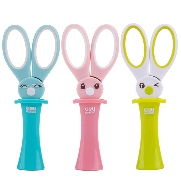 1 Pcs Kawaii Magic Rabbit Children Scissors Multipurpose Office Scissors Stainless Steel Scissors Student Paper Cutting Knife