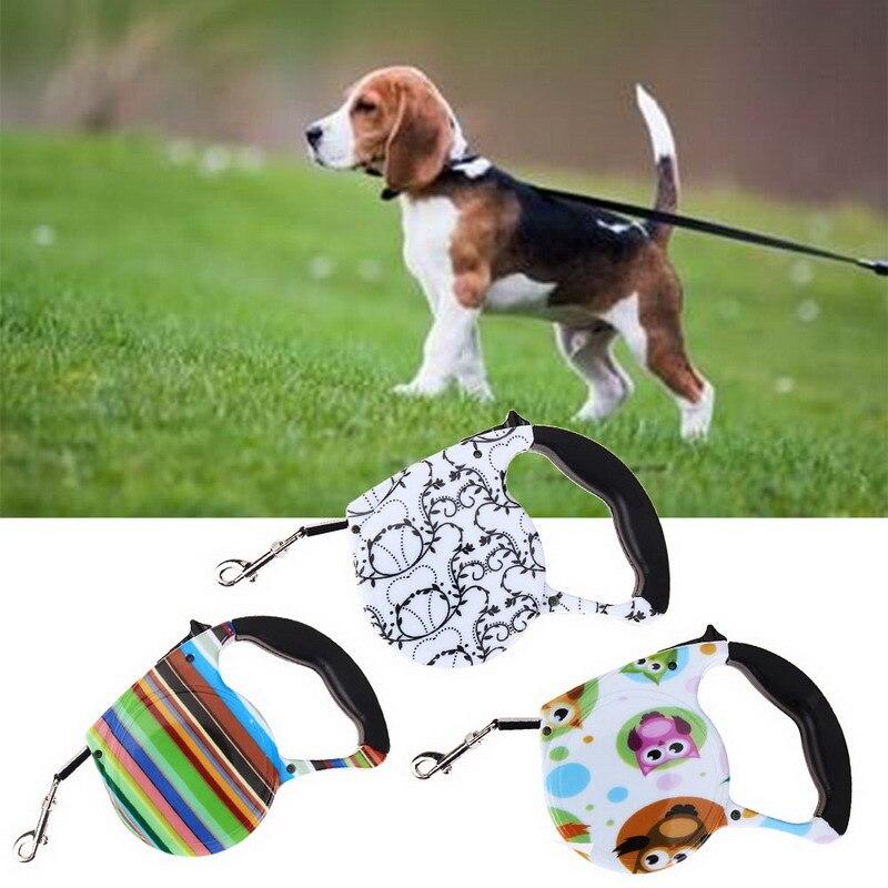 5 M correas extensibles automáticas Walking Pet Leads impresión perro correa para perro Puppy tracción cuerda Walking Lead