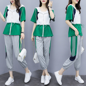 Large Size  Tracksuit For Women Casual Women's Suit Two Piece Set Top And Pants Women Clothes 2019 Ensemble Femme Deux Pieces