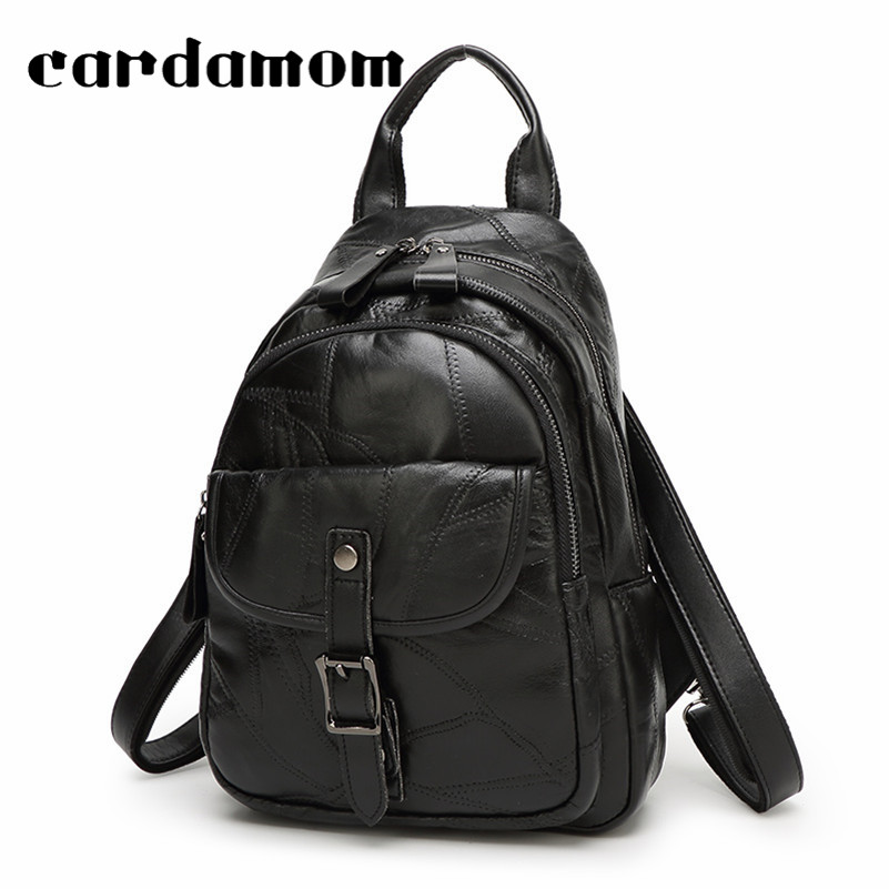 2018 New Fashion Women Genuine Leather Backpack For Woman Backpacks Female Travel Shoulder Bag College Wind School Zipper Bag цена 2017