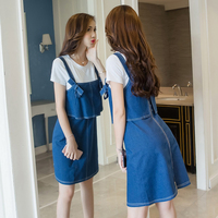 CMTY Korean Style Dress Summer Hight Waist Dress Women Elegant Clothing