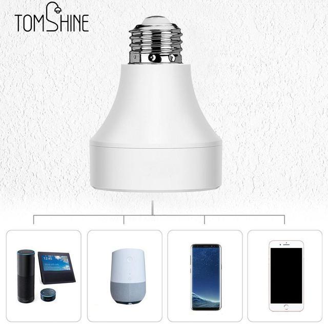 E27 E26 LED Wifi Điều Khiển Ánh Sáng Căn Cứ Công Tắc Đui đèn Thông Minh Không Dây Đèn Bóng Ổ Cắm chuyển đổi cho Android /IOS