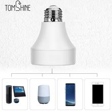 Lâmpada de led e27 e26, interruptor base de lâmpada inteligente sem fio, lâmpada conversor de tomada para android/ios