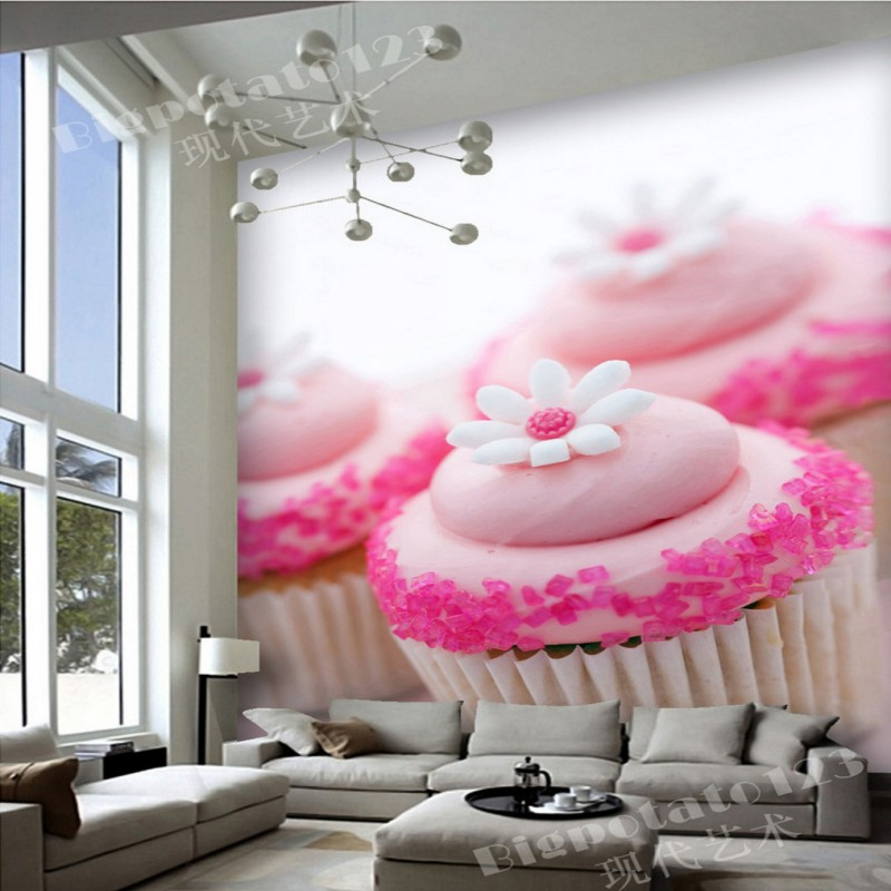 Aliexpress.com : Buy 3D photo wallpaper Cute Pink Chocolate White ...