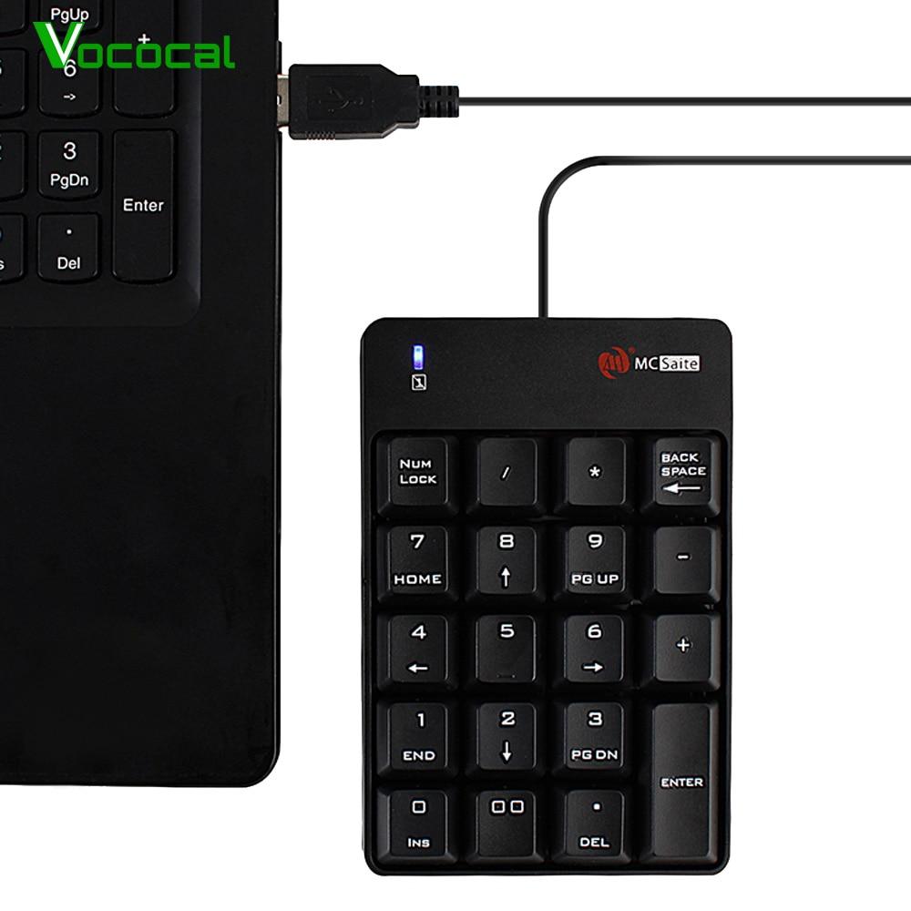 Vococal ミニ有線 19 キー USB テンキーキーボードテンキー imac Mac ブックエア Macbook Pro の新バージョンコンピュータラップトップ