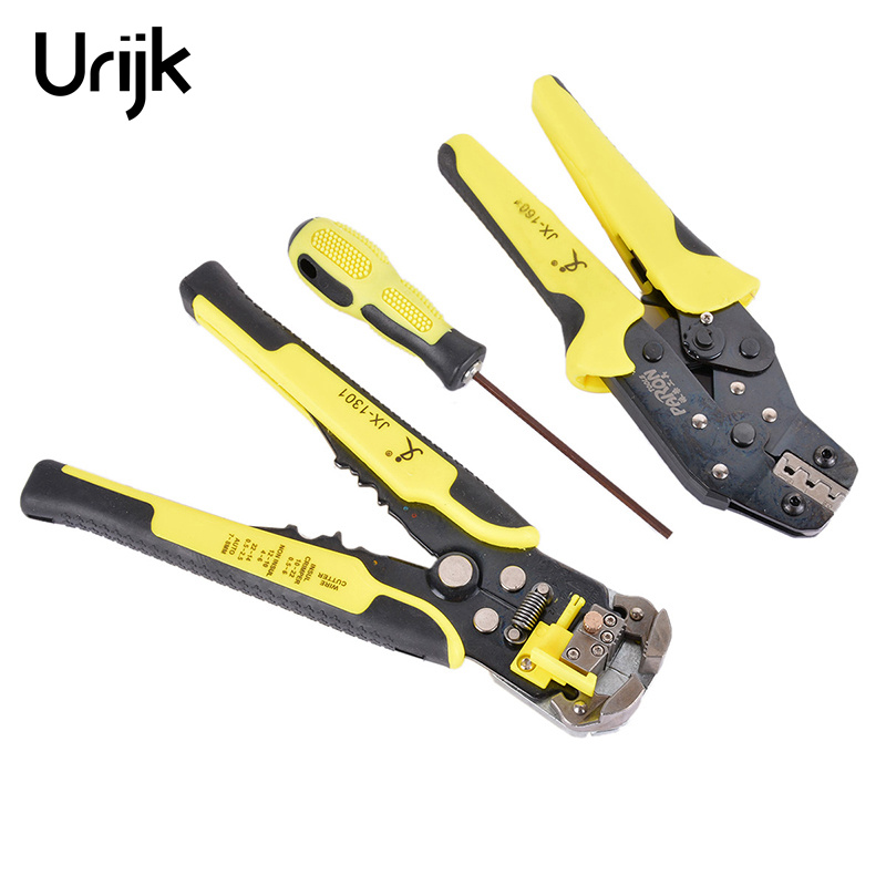 4 In 1 Multi-Specification Cable Wire Stripping Crimping Cutting Tools Set With Professional Wire Strippers Hand Tools fasen hot sale hs d1 multi functional cable wire stripping awg24 10 0 2 6 0mm2 straight cutting crimping tools wire stripper