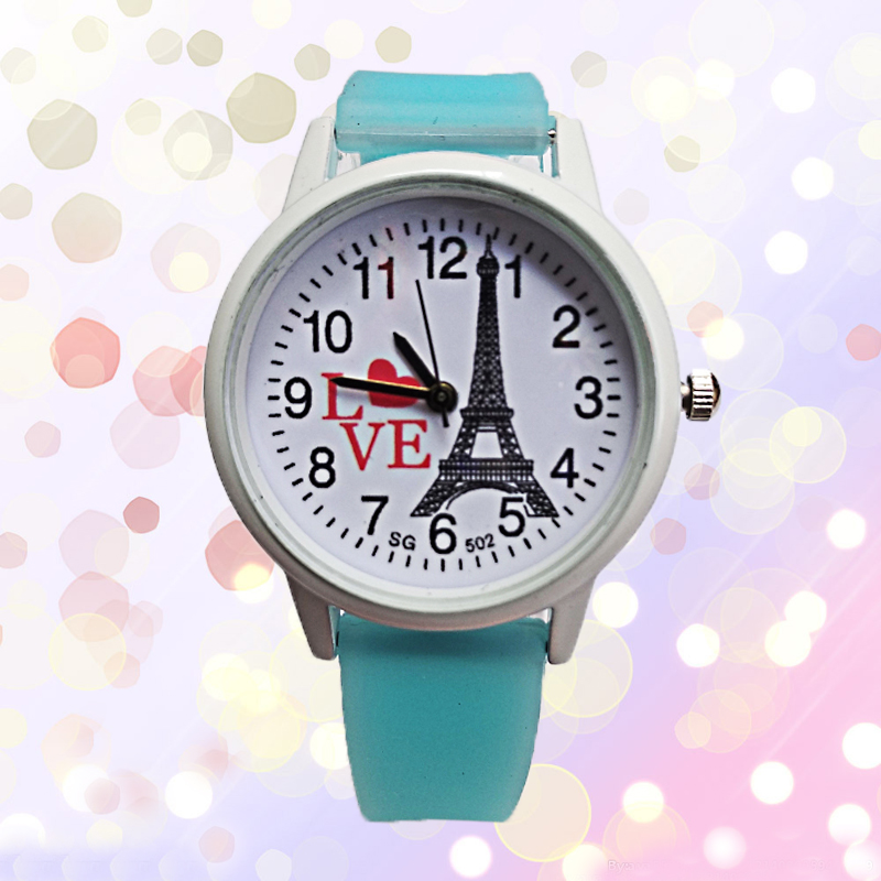 Low Price Good Quality Women Watch Paris Tower Heart-shaped Kids Watches Children Watch Girls Boys Clock Waterproof Wristwatches
