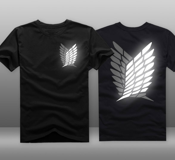font b Mens b font Casual Anime Attack On Titan Scounting Legion Logo Reflective 100