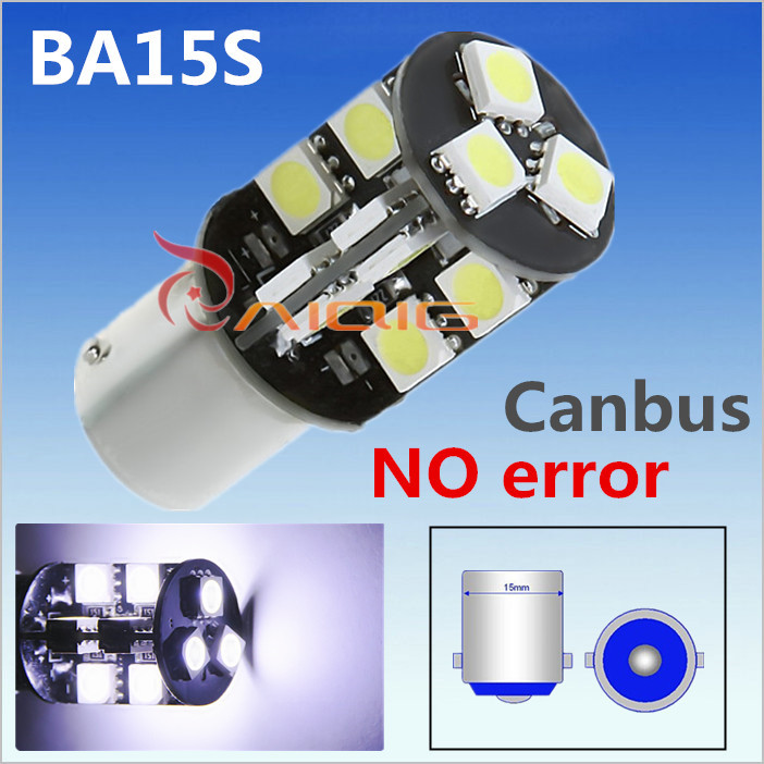 1156 BA15S 19 SMD CANBUS OBC Error Free Car LED lamp p21w R5W led bulbs Reverse Lights C ...