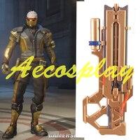OW 76 Soldier Cosplay props Costumes Halloween gold gun Helmet Assault rifle Weapons