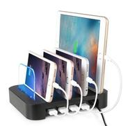 4 Ports USB Hub Universal Multi Device Charging Station Fast Charger Docking 24W For IPhone IPad