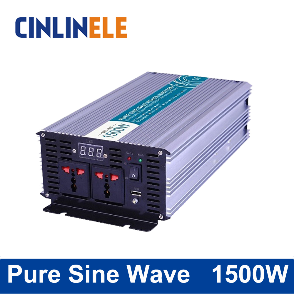 Pure Sine Wave Inverter 1500W CLP1500A DC 12V 24V 48V to AC 110V 220V 1500W Surge Power 3000W pure sine wave inverter 5000w clp5000a dc 12v 24v 48v to ac 110v 220v 5000w surge power 10000w