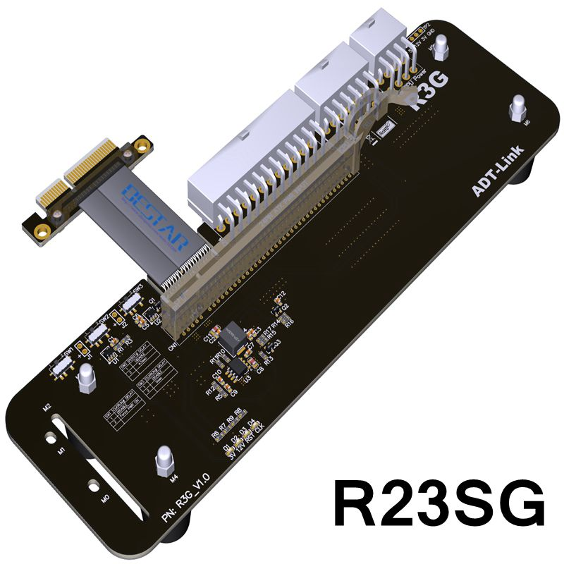 32Gb.s PCI-E 3.0 4x External Graphics Card Stand bracket PCIe 3.0 x4 Riser Cable 25cm 50cm External Independent Video Card Dock vg 86m06 006 gpu for acer aspire 6530g notebook pc graphics card ati hd3650 video card