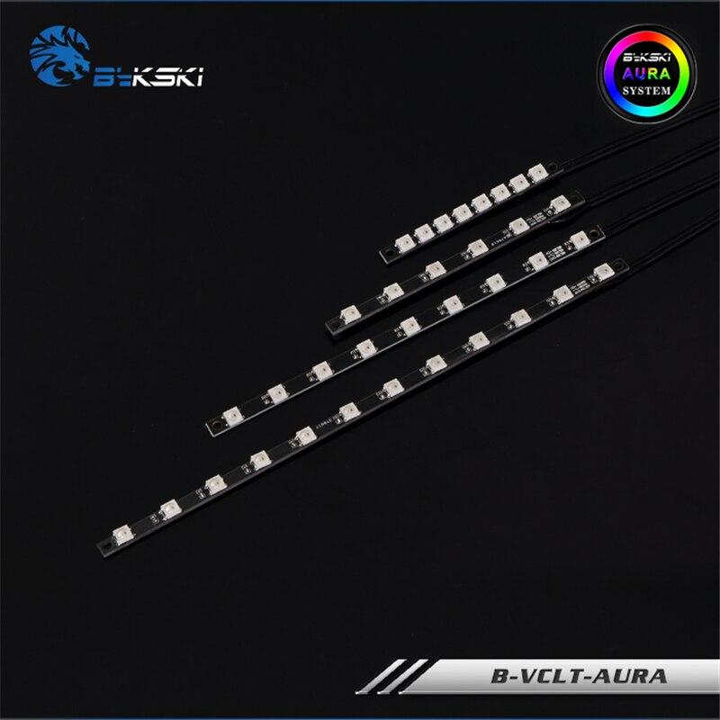 Bykski RGB светодиодные ленты для водяного охлаждения блока 5V или 12V Светодиодный Поддержка MOBO/AURA SYNC 70 200 мм Кулеры/вентиляторы/системы охлаждения      АлиЭкспресс