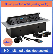 Tomada de mesa/hidden/VGA, 3.5 áudio, HDMI, USB, rede, RJ45, CABO de caixa de tomada de Informação/High-grade desktop soquete/A05J