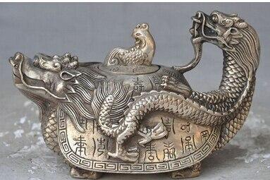 Venta directa de de ronce Tortuga de Plata Tibet Plata Antigua Chine phoenix oiseau mariage Laiton Beaux-Arts Artisanat décoration