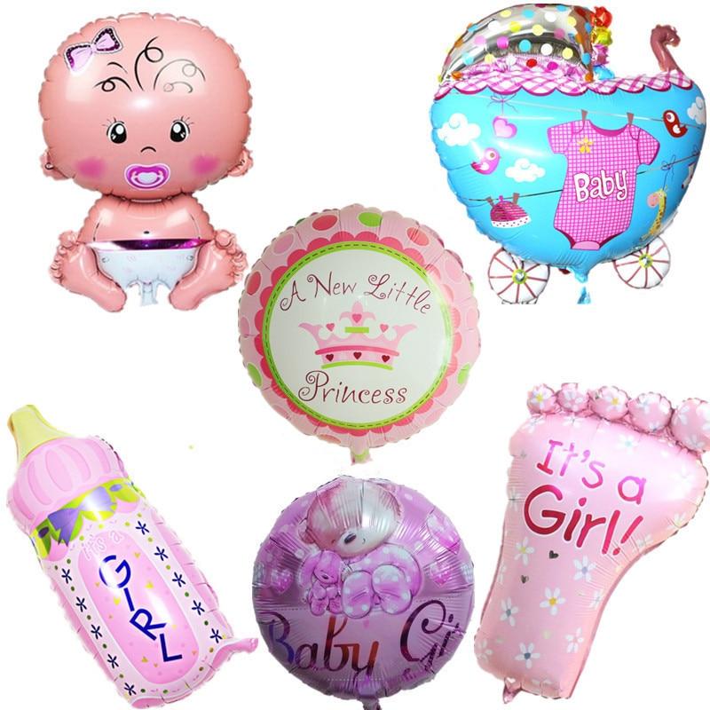 Воздушные шары из фольги для маленьких мальчиков, воздушные шары для детской коляски, шары для девочек на день рождения, надувные вечерние украшения, Детская мультяшная шапка