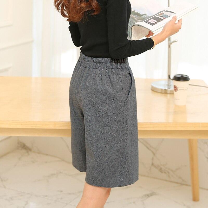 Hot sale 2018 Autumn Winter New Style Women   Pants     Capris   Female Fashion Casual   Pants   High Waist Woolen   Pants   Women S-XXL