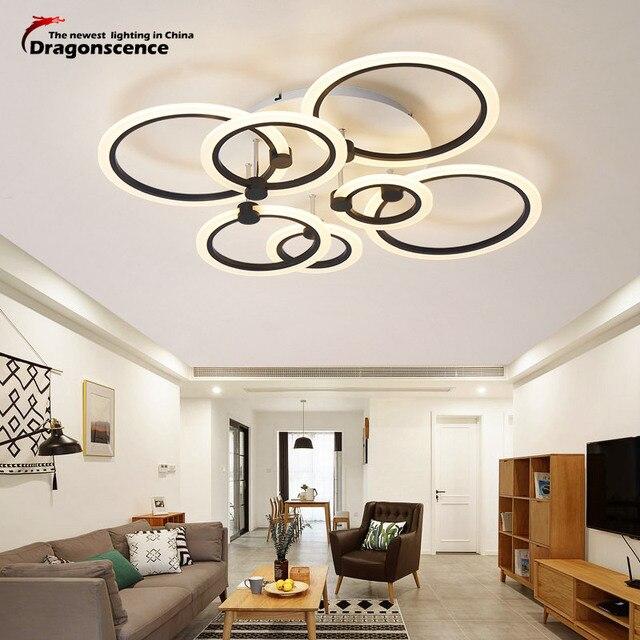 Dragonsce Modern Chandeliers Lighting for living room Bedroom Restaurant  Chandelier lamp  indoor home Acrylic ring fixture