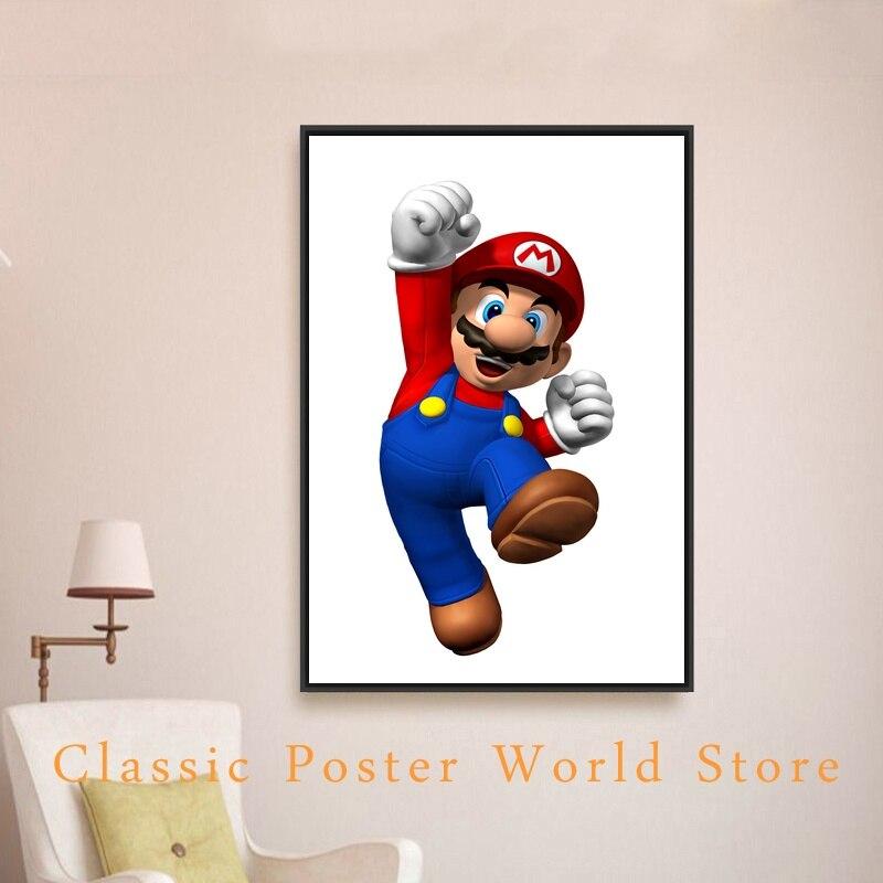 Super Mario Bros videojuegos Nintendo pared decoración 24x36 ...