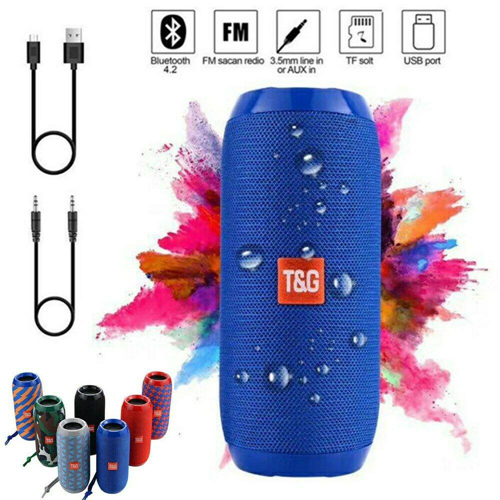 Wireless Bluetooth Speaker Waterproof Outdoor Stereo Bass TF USB FM Radio Audio