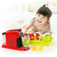 New 21Pcs Simulation Coffeemaker Pretend Play Toys Educational Kid Kitchen Set Fun Miniature Toys for Children