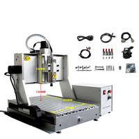 CNC Metal Engraving machine 6040 for steel copper aluminum 1500W water cooling spindle stone cnc engraver router