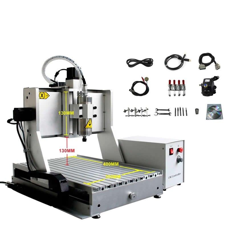 CNC machine de gravure sur métal 6040 pour acier cuivre aluminium 1500 W broche de refroidissement par eau pierre CNC graveur routeur