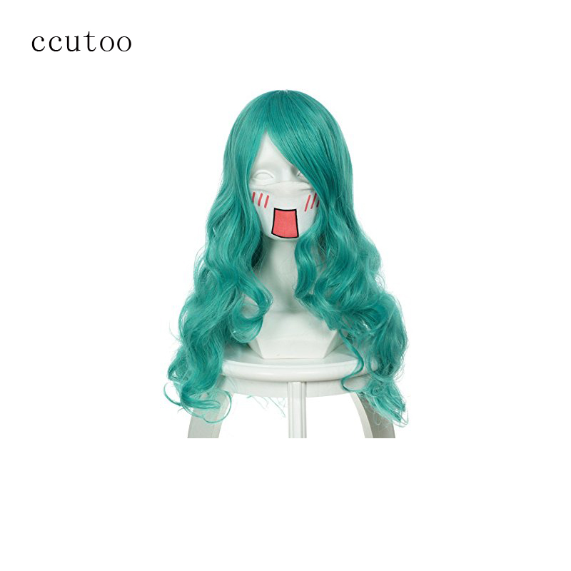 "Ccutoo Sailor Moon Neptune Kaiou Michiru 26"" Green Curly"