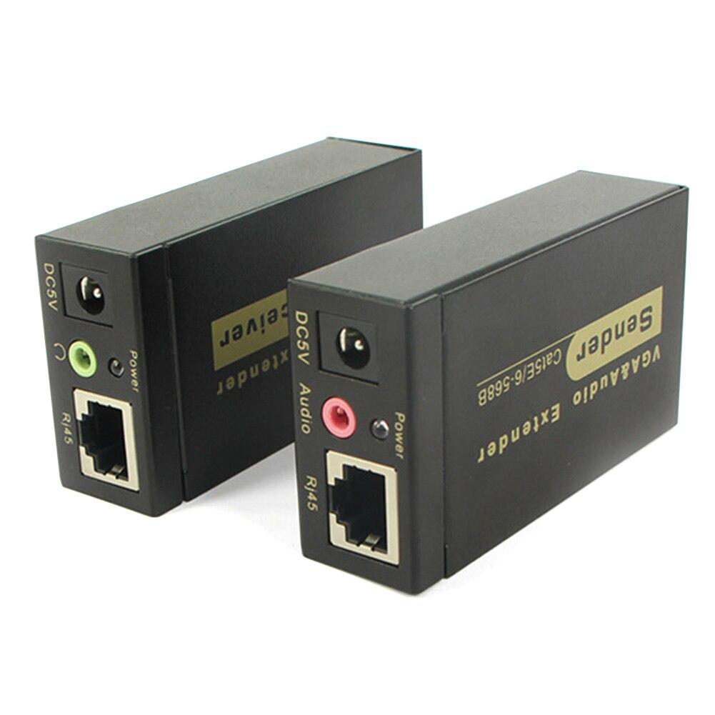 Répéteur RJ45 VGA Extender accessoires Audio pour projecteur avec adaptateur de câble émetteur amplificateur récepteur réseau convertisseur