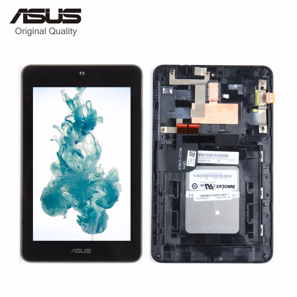 Srjtek 7 For Asus MemoPad HD7 ME173 ME173X K00B LCD Display Matric Touch Screen Digitizer Sensor Full Assembly with Frame 7 inch for asus me173x me173 lcd display touch screen with digitizer assembly complete free shipping