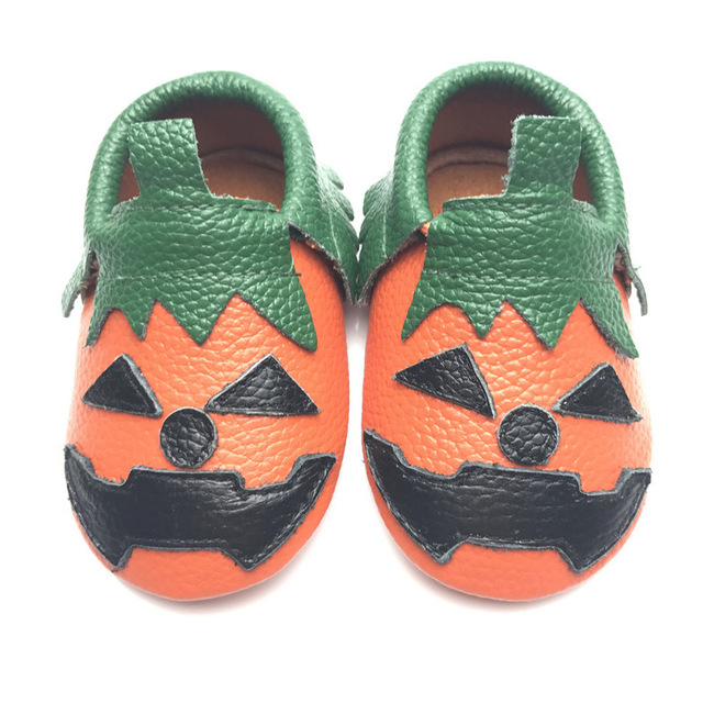165ad97fd674f Cute Halloween Pumpkin Modeling Baby Shoes Handmade Genuine Leather Baby  Moccasins-in First Walkers from Mother & Kids on Aliexpress.com | Alibaba  ...