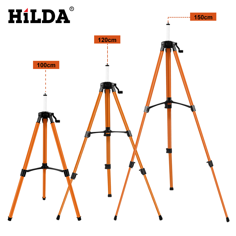 HILDA Laser Level Tripod Adjustable Height Thicken Aluminum Tripod Stand For Self leveling 1/1.2/1.5mHILDA Laser Level Tripod Adjustable Height Thicken Aluminum Tripod Stand For Self leveling 1/1.2/1.5m