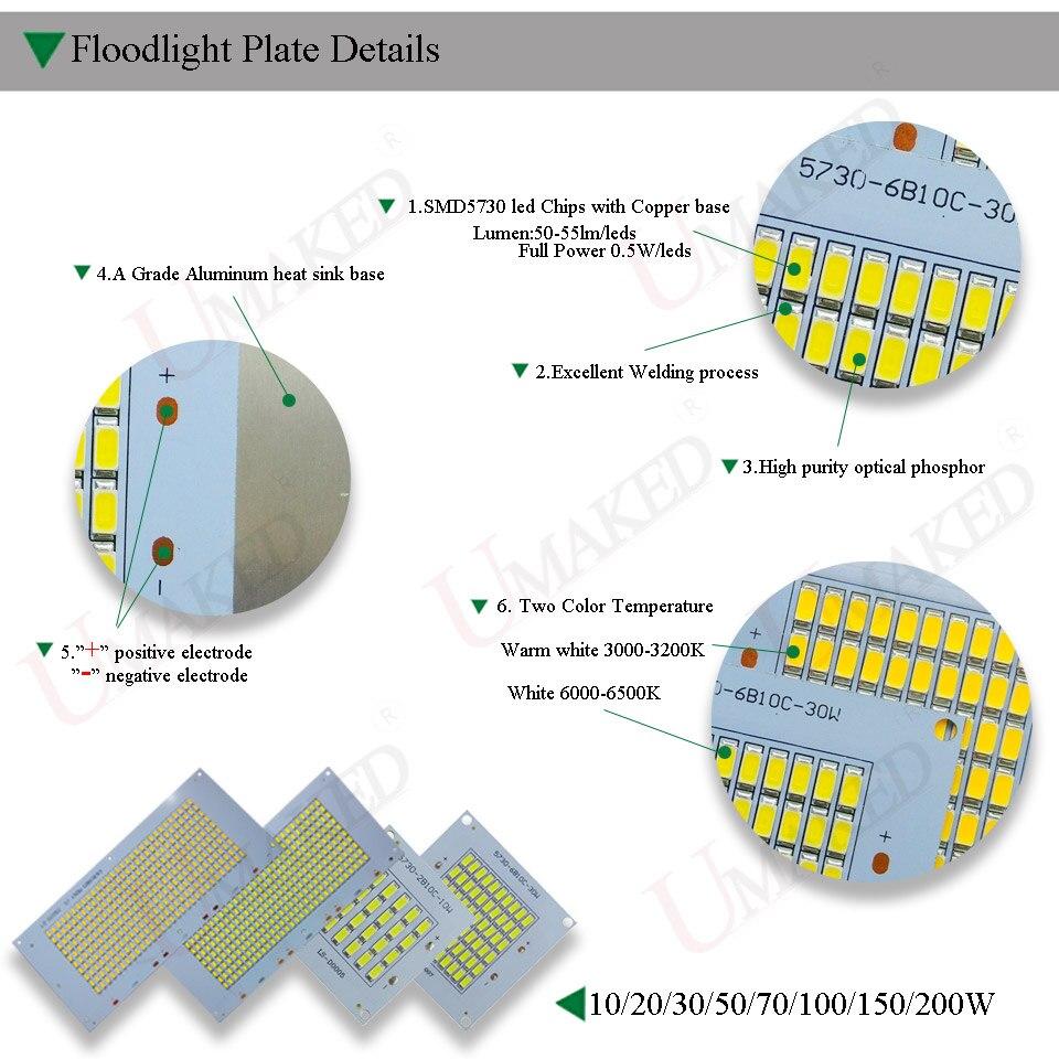 Holofotes smd lâmpadas cob chip 5730 Current : 2*(1500ma)