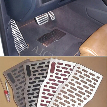 Car Aluminum Pedal Pad Floor Mats Accessories for Mitsubishi eclipse lancer 10 evo galant outlander 3 montero asx 2008-2018 image
