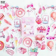 DIY Mohamm Box милые наклейки Скрапбукинг этикетка Японский Корейский дневник бумага путешествия Lifelog девушка розовые наклейки