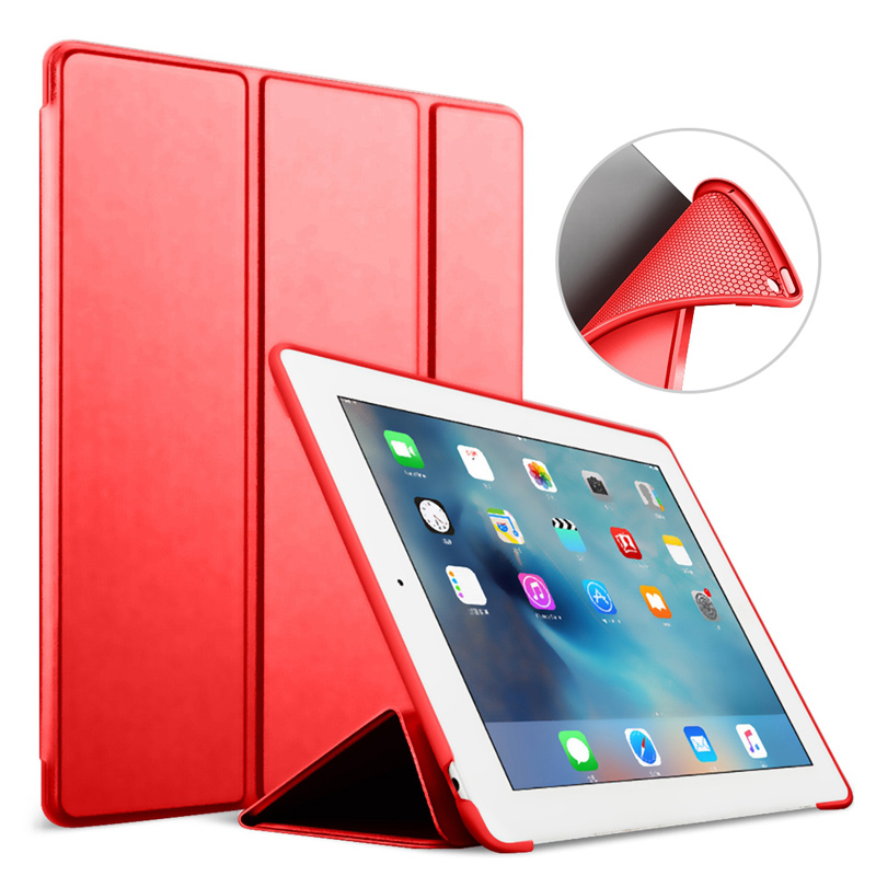 For iPad 2 3 4 case 9.7 Inch Ultra Slim Lightweight Trifold Smart Cover Stand With Flexible Soft Silicone Back Auto Sleep cases