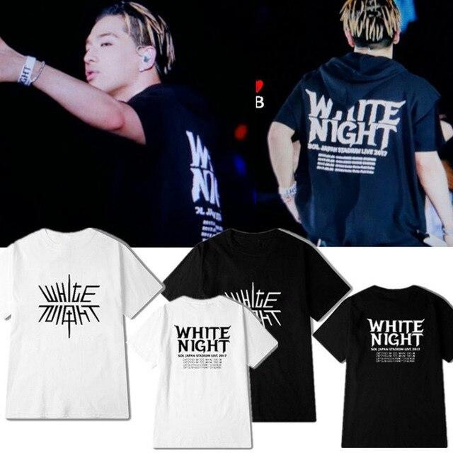 fbf8713ea55 New kpop BIGBANG TAEYANG WHITE NIGHT Concert The Same Couple Street summer  Short Sleeve Tshirt