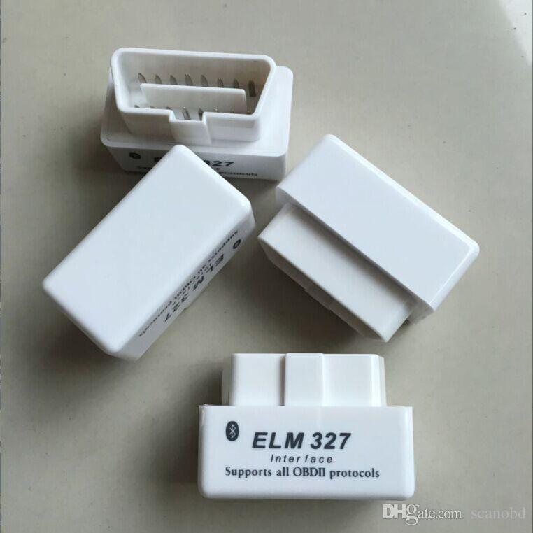 Auto Car Diagnostic Scanner code reader scan tool White Mini ELM327 V2.1 Bluetooth Interface OBD Advanced OBDII OBD2 ELM 327