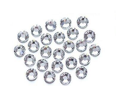 500pcs clear 2mm rhinestones strass round acrylic loose