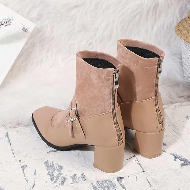 Большие размеры 9, 10, 11-17; ботинки; женская обувь; ботильоны для женщин; дамские ботинки с ремешком и пряжкой; с отстрочкой сзади; на молнии
