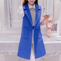 Plus Size Blazer Casual Women Vest Waistcoat Brief Long Slim Female Waistcoats Spring Cardigan Sleeveless Coat Large Size