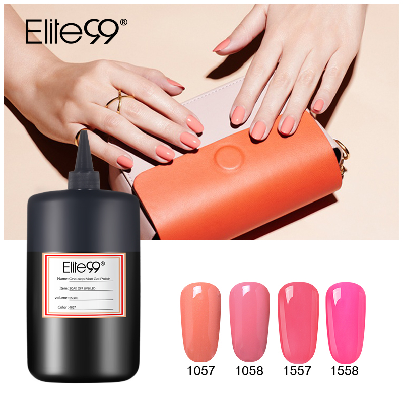 Elite99 250ML Colorful Pure Nail Gel Polish UV Gel High Quality Varnish Bottle Vernis Semi Permanent LacquerElite99 250ML Colorful Pure Nail Gel Polish UV Gel High Quality Varnish Bottle Vernis Semi Permanent Lacquer