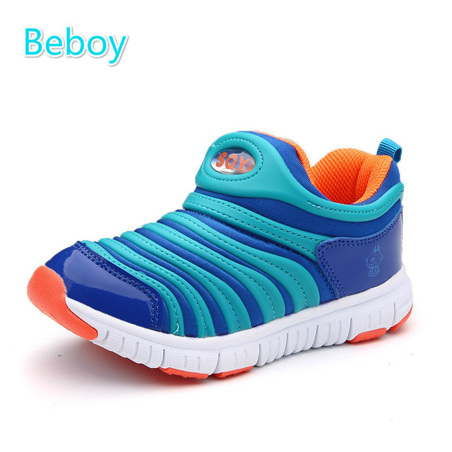 Beboy New Kids Sneakers Boys Girls Slip On Shoes Anti-skid Flat Sport Shoes Leisure Walking Shoes for All Seasons Size 25-37