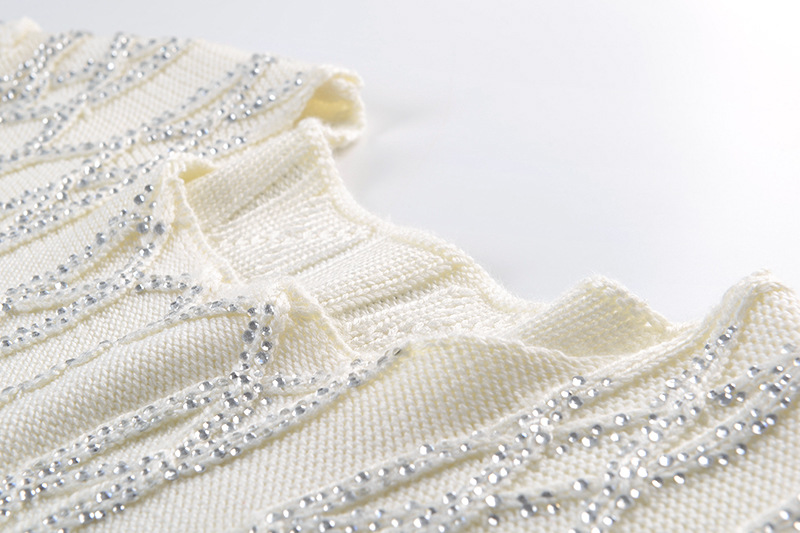 Pull Des Femmes Chandails Mode Whitney Streetwear 2019 Bling Automne Diamants Jumper Wang Printemps Chandail Blanc nqFTFwBO