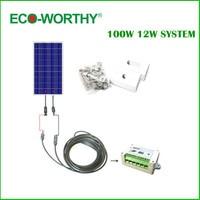 100 Вт Полный комплект: 100 Вт PV Панели солнечные 12 В система на колесах лодка солнечных батарей Панель * '#
