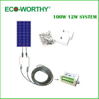 100W COMPLETE KIT 100W PV Solar Panel 12V System RV Boat Solar Cell Panel