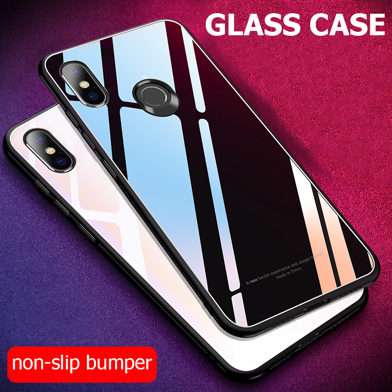 the best attitude 84223 d5150 For Xiaomi Redmi Note 6 Pro Case Luxury Shockproof Hard Tempered Glass Back  Cover for Xiomi Xiaomi Redmi Note 6 Note6 Phone Case