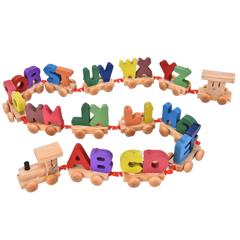 new 1set multicolored wooden letters train toy setchina mainland