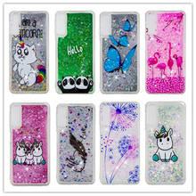 Bling Quicksand Case For Samsung Galaxy A7 2018 A750 3D Unicorn Liquid Glitter A750F SM-A750F